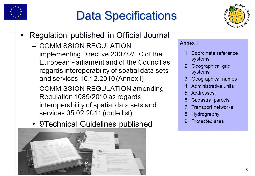 Data Specifications Regulation published in Official Journal