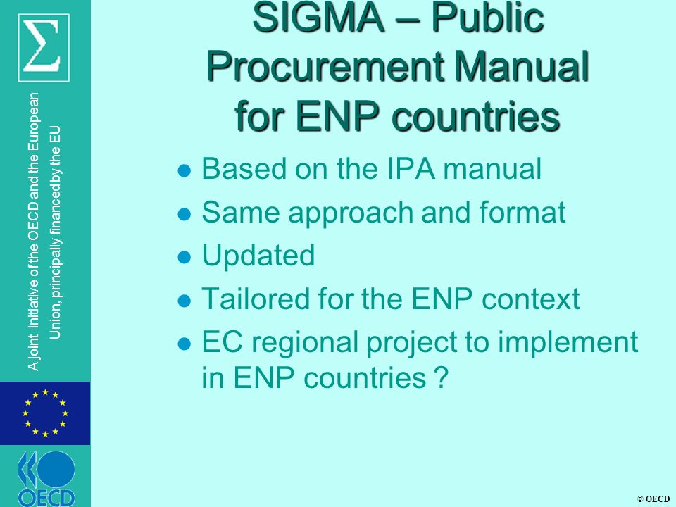 SIGMA – Public Procurement Manual for ENP countries