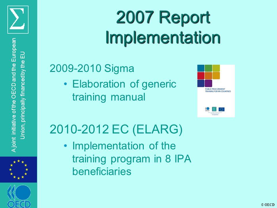 2007 Report Implementation