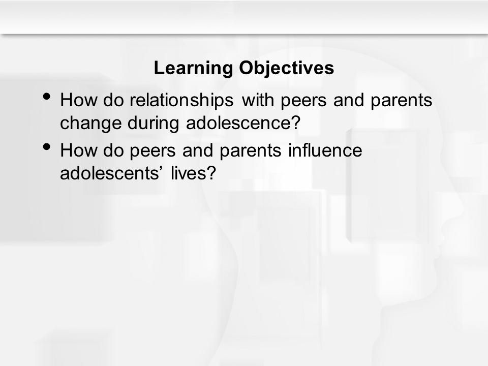 influence by peers in adolescents Scientists, educators, and parents of teens have long recognized the potency of peer influences on children and youth, but until recently, questions of how and why.
