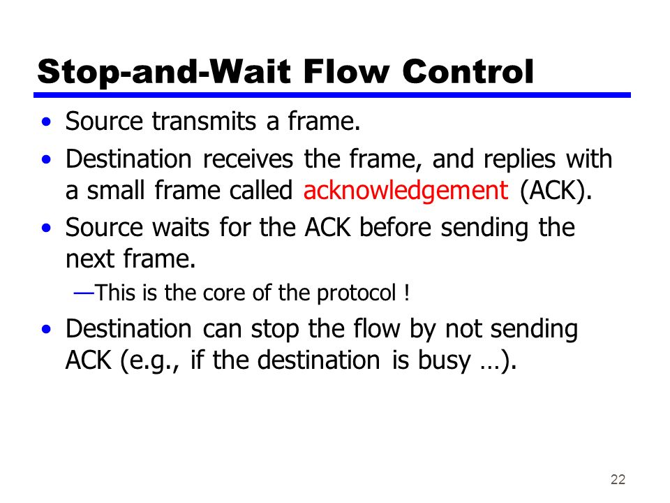 Stop and wait protocol pdf