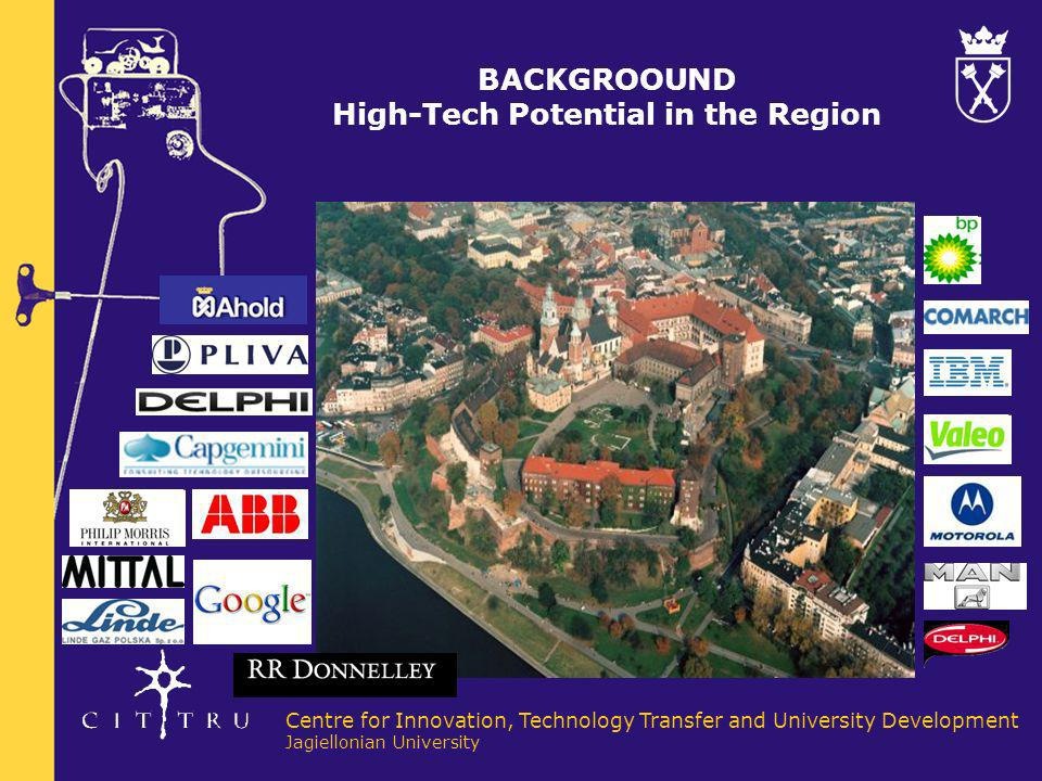 BACKGROOUND High-Tech Potential in the Region