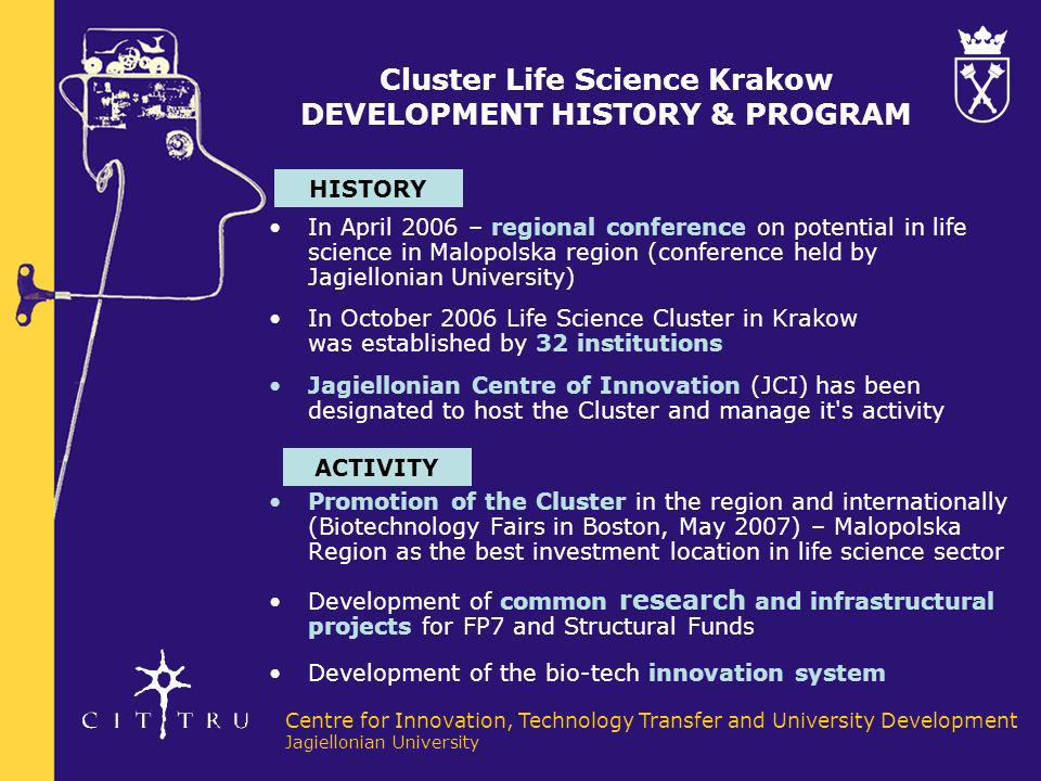 Cluster Life Science Krakow DEVELOPMENT HISTORY & PROGRAM
