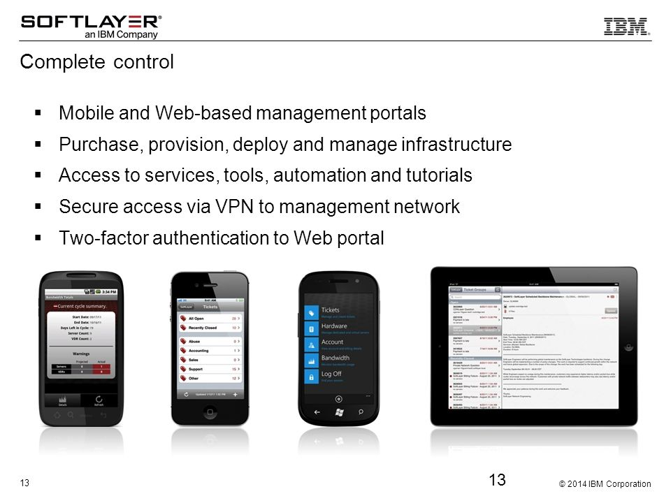 Complete control Mobile and Web-based management portals