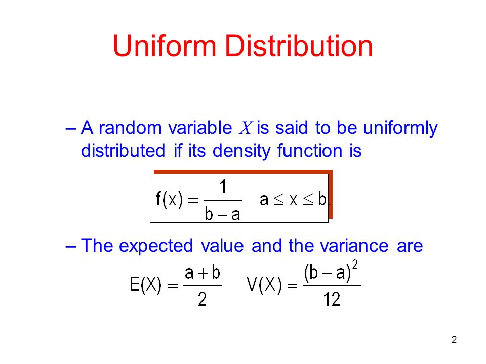 Uniformly distributed