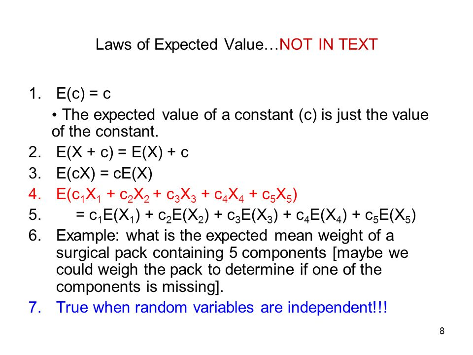 how to get variance from expected value