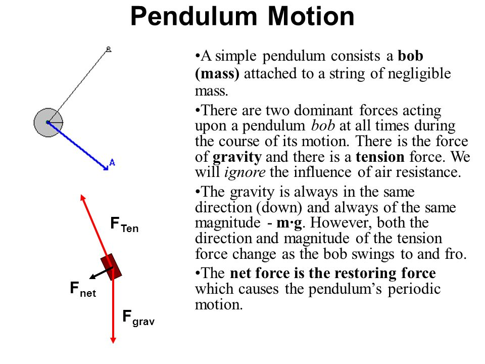 pendulums and gravity