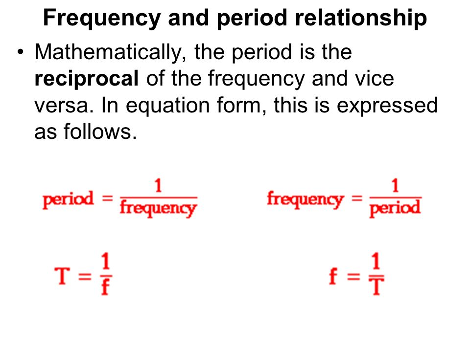 period and frequency relationship