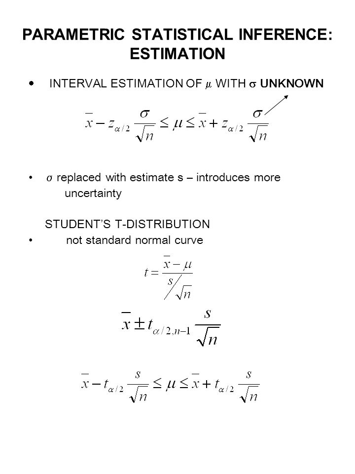 statistical inference and interval estimate Confidence interval for y using inference more reliable predictions require statistical inference: tooest atea estimate an inddduaividual respoespo sense y fooag e aueor a given value of x,, weeusea use a inference for regressioninference for regression.