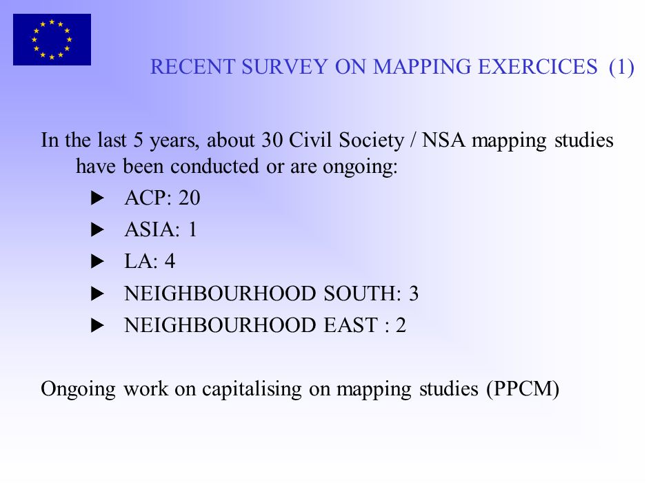 RECENT SURVEY ON MAPPING EXERCICES (1)