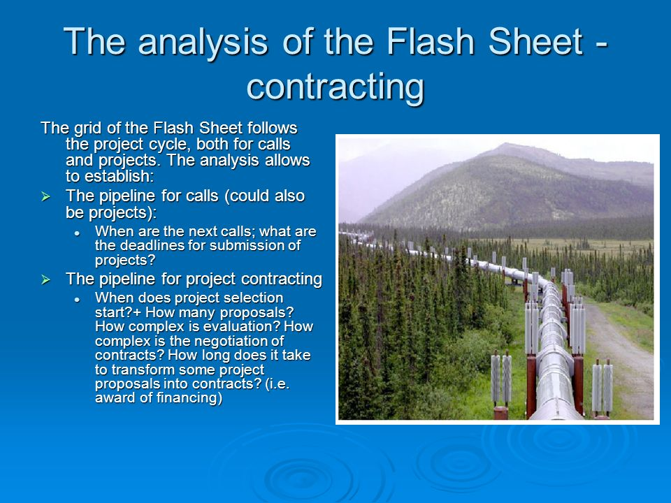 The analysis of the Flash Sheet - contracting