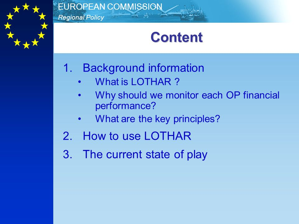 Content Background information How to use LOTHAR
