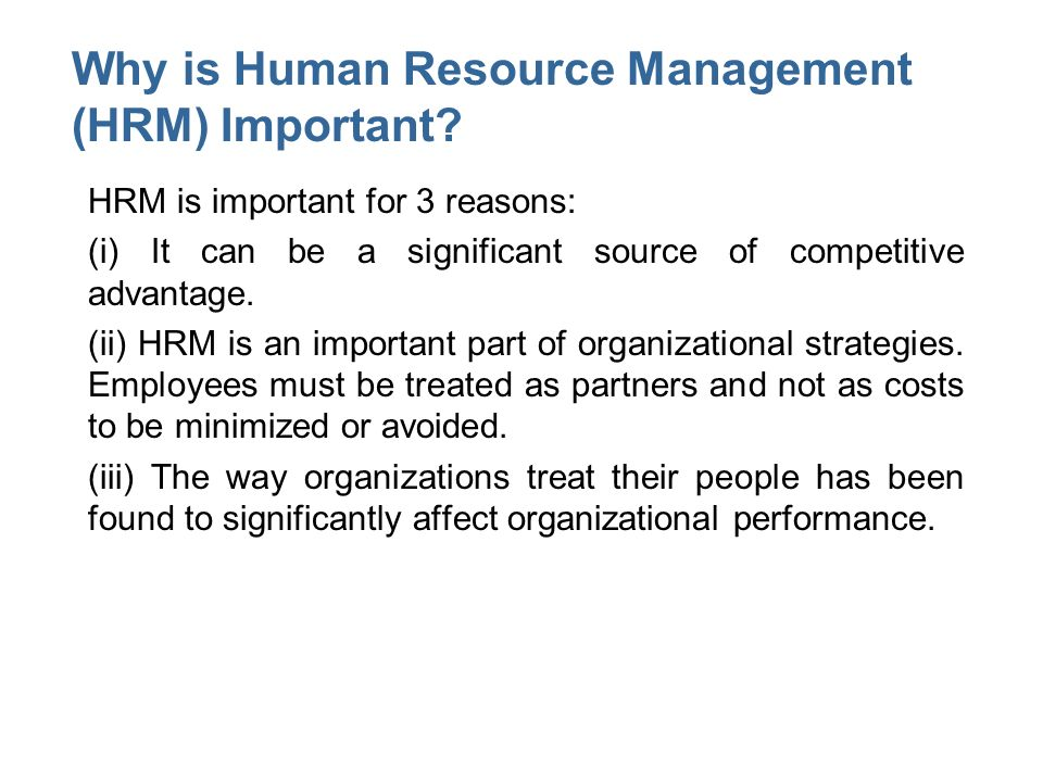Why is performance management necessary in