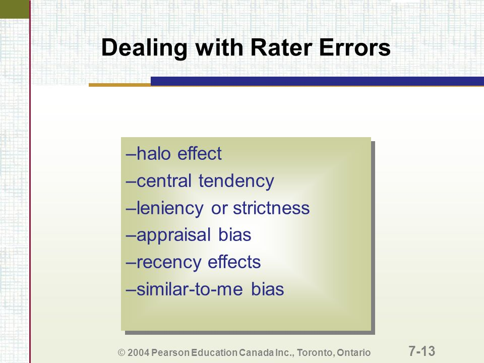 halo effect and recency effect The halo effect is a type of cognitive bias in which our overall impression of a person influences how we feel and think about his or her character essentially, your overall impression of a person (he is nice) impacts your evaluations of that person's specific traits (he is also smart.