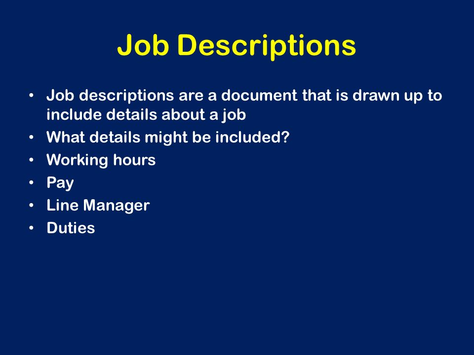 Hook up manager job description - video dailymotion