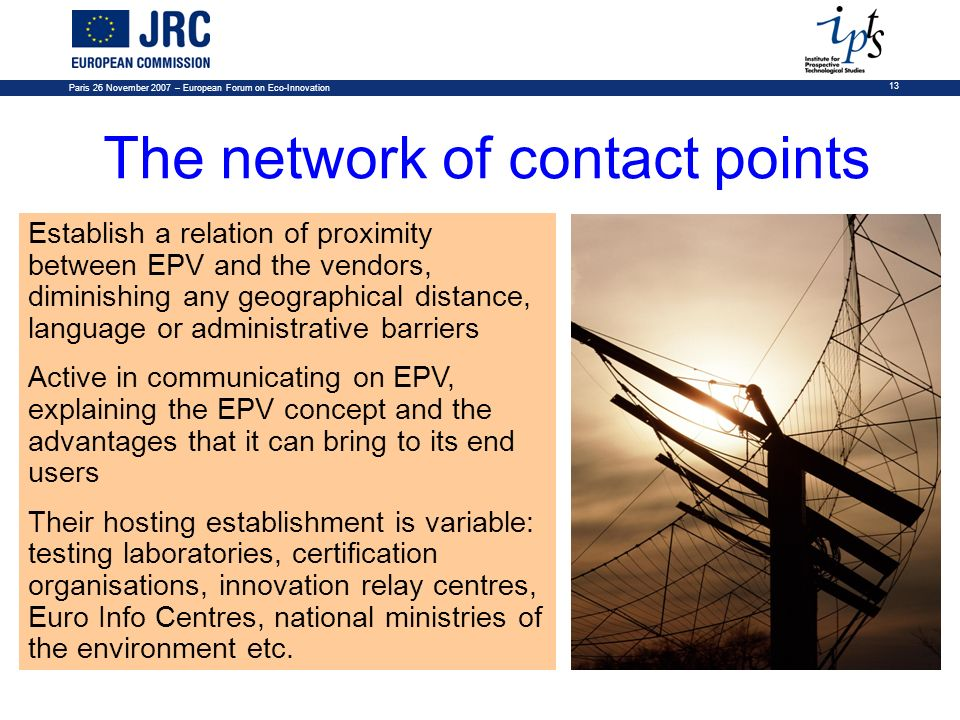 The network of contact points