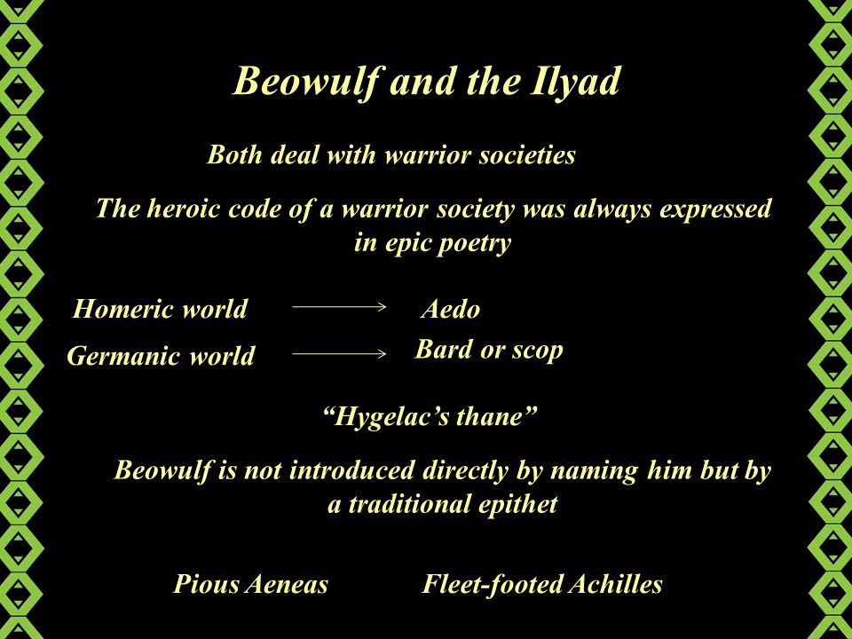 heroic code beowulf Beowulf part iii discussion questions what does hrothgar suggest to beowulf about his ability  does the heroic code expressed in beowulf conflict with a christian.