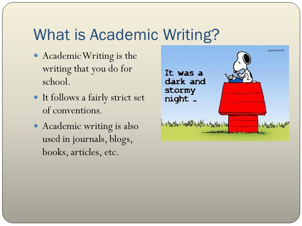 Academic writing