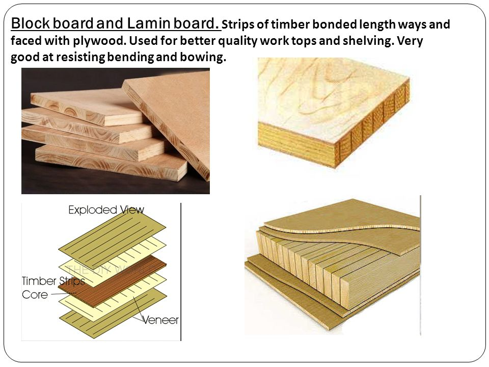 Laminboard Board Block ~ Smart materials are reactive