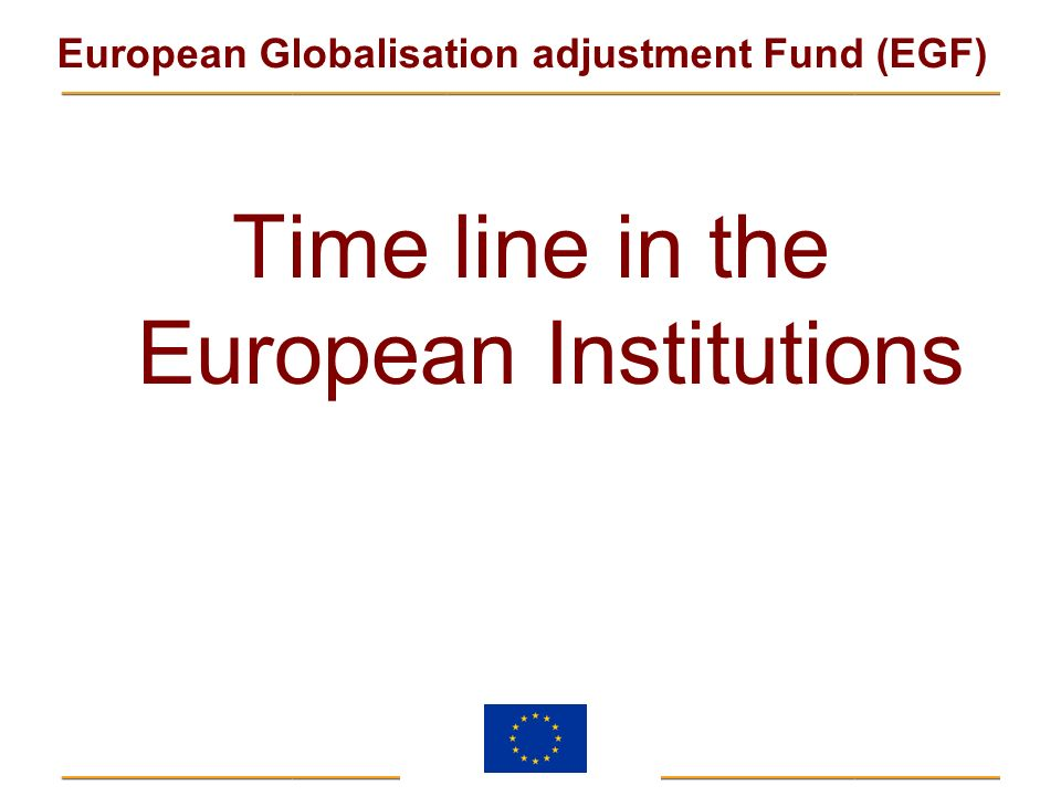 Time line in the European Institutions