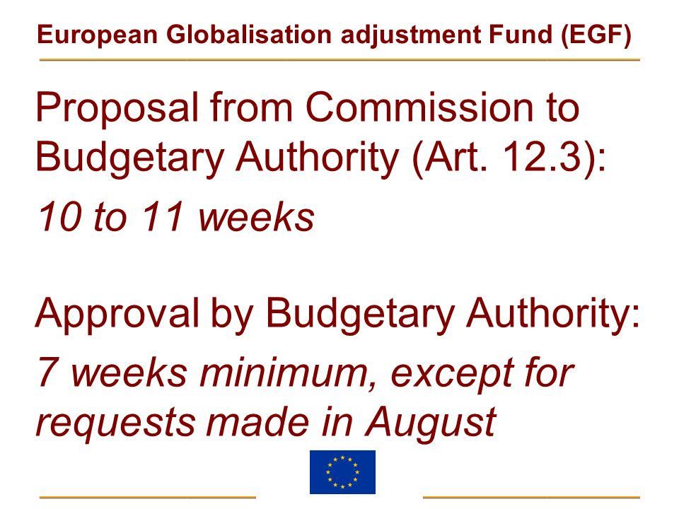 Proposal from Commission to Budgetary Authority (Art. 12.3):