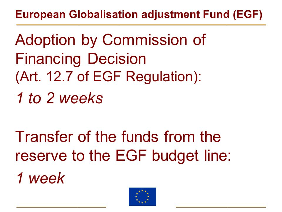 Adoption by Commission of Financing Decision (Art. 12