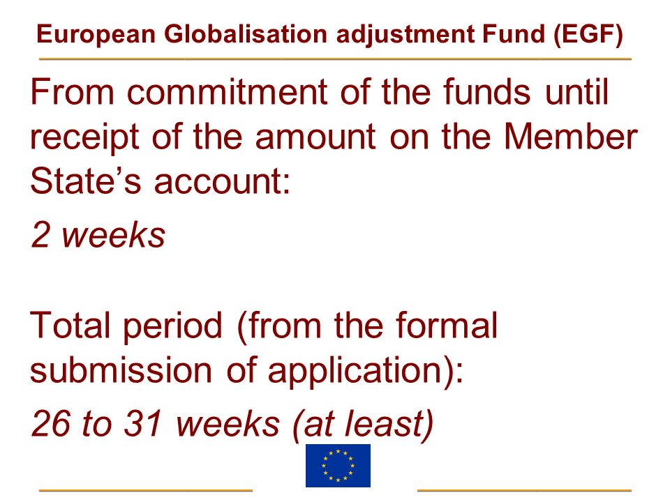 From commitment of the funds until receipt of the amount on the Member State's account: