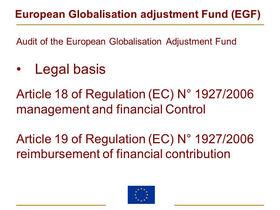 Legal basis Article 18 of Regulation (EC) N° 1927/2006