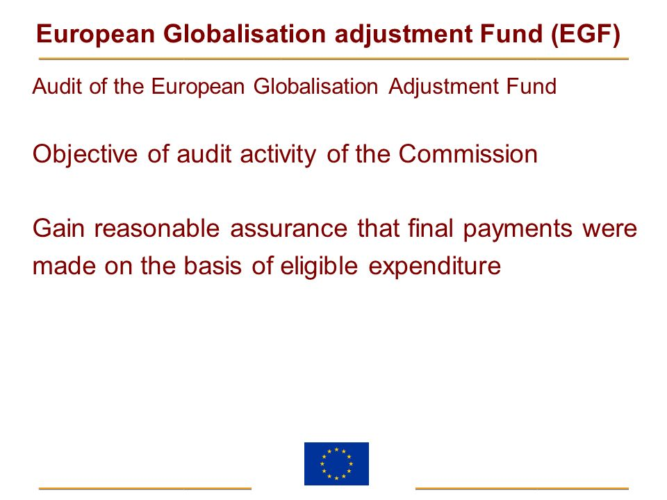 Objective of audit activity of the Commission