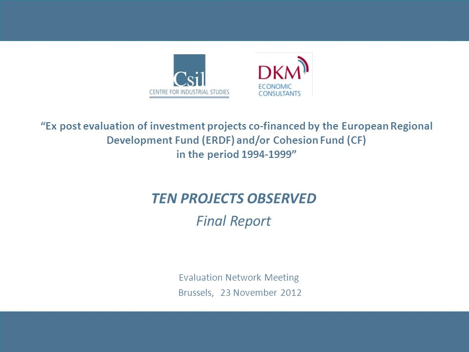 TEN PROJECTS OBSERVED Final Report