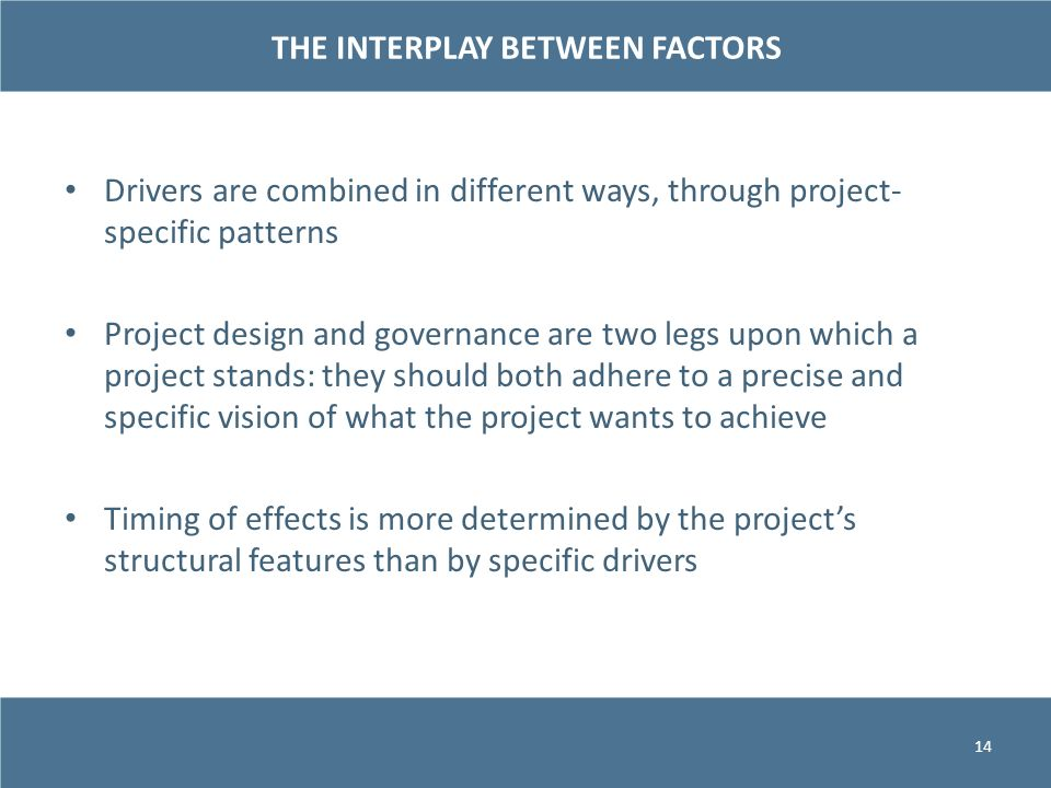 THE INTERPLAY BETWEEN FACTORS