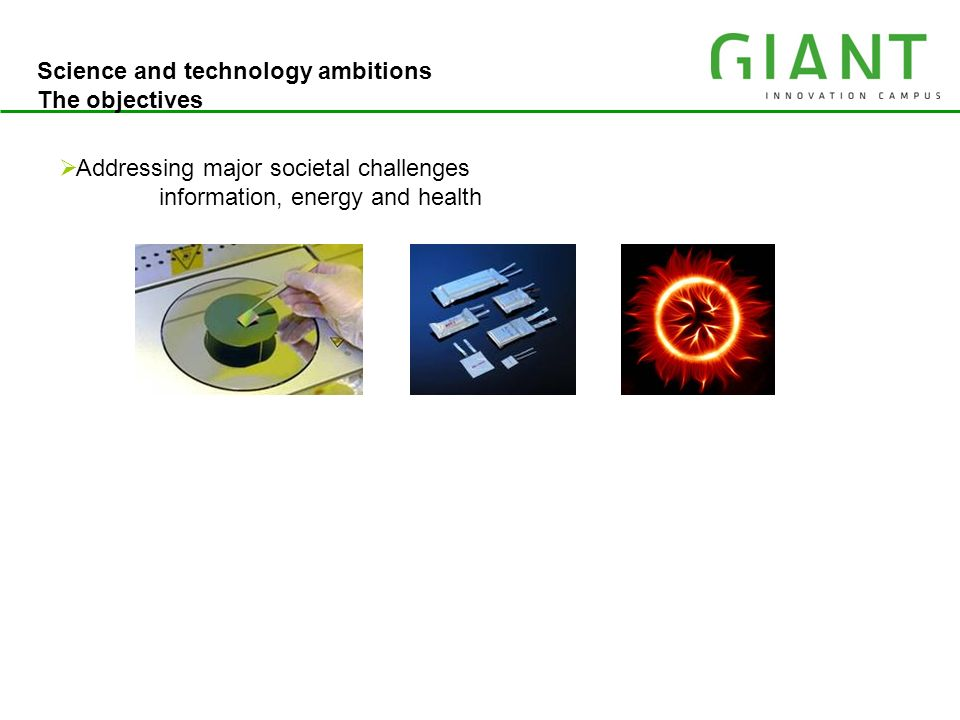 Science and technology ambitions The objectives