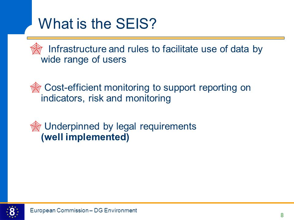 What is the SEIS Infrastructure and rules to facilitate use of data by wide range of users.
