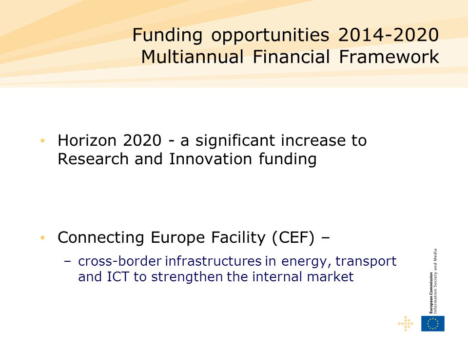 Funding opportunities Multiannual Financial Framework