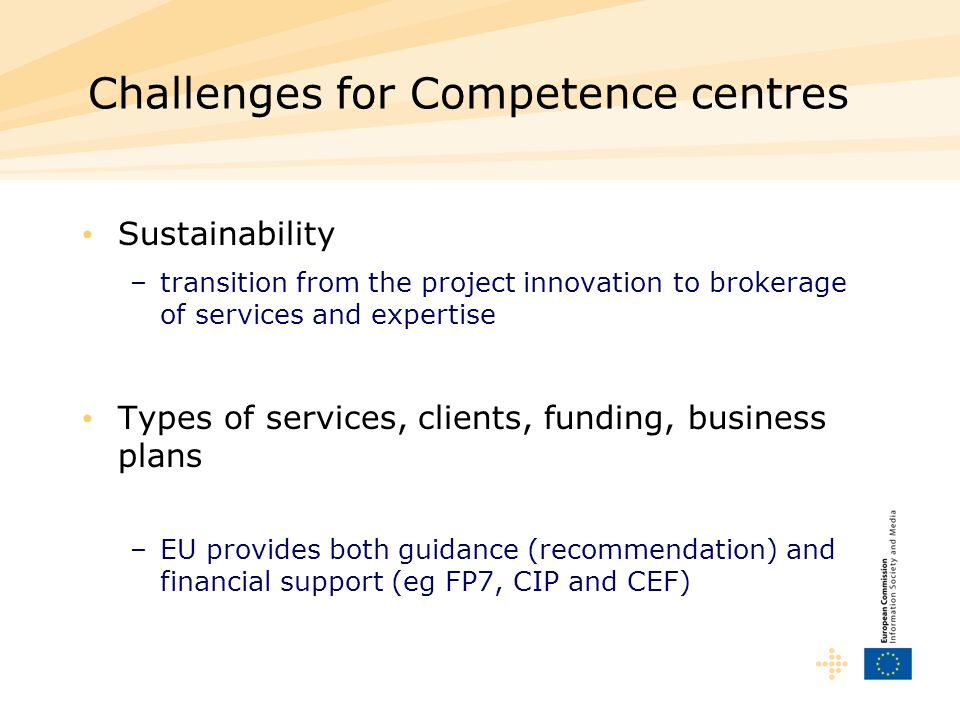 Challenges for Competence centres