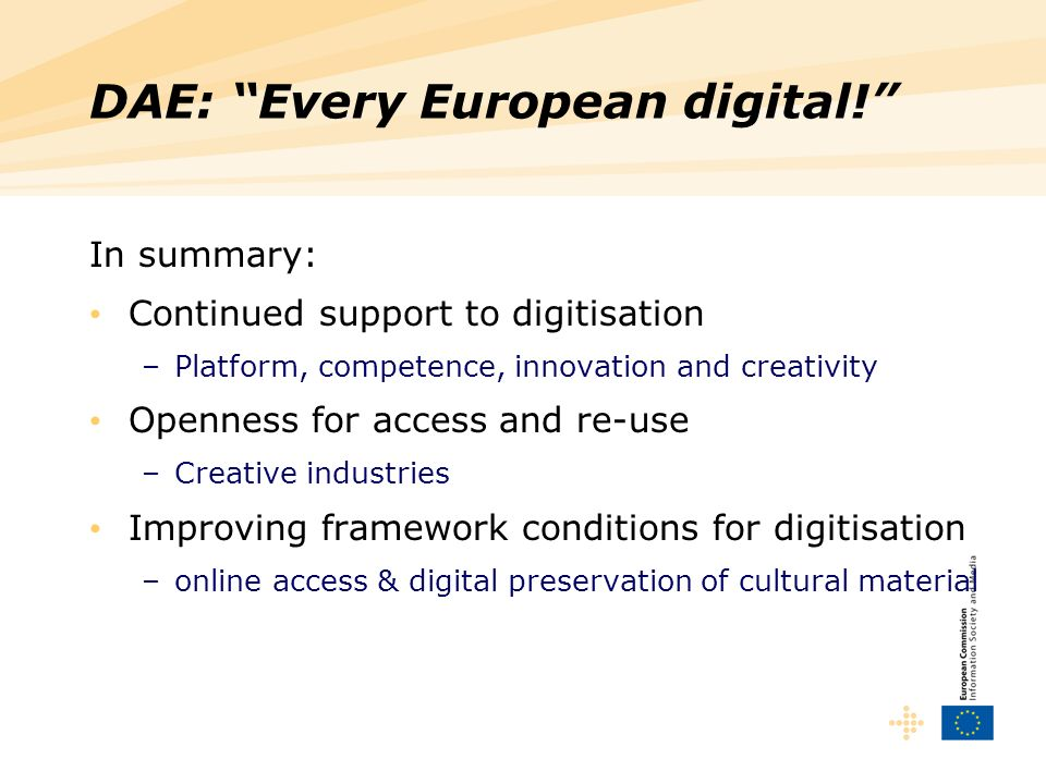 DAE: Every European digital!