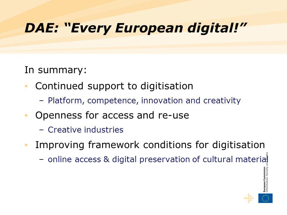DAE: Every European digital!