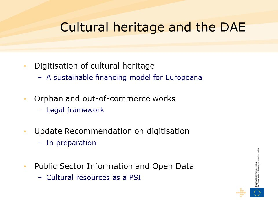 Cultural heritage and the DAE