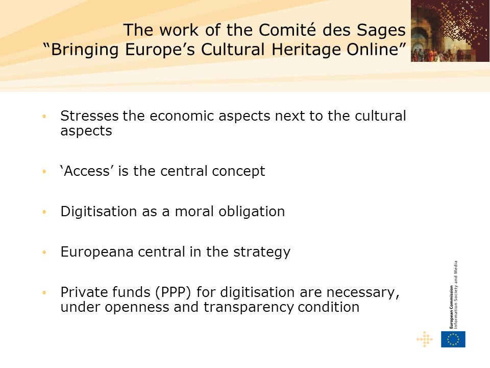 The work of the Comité des Sages Bringing Europe's Cultural Heritage Online