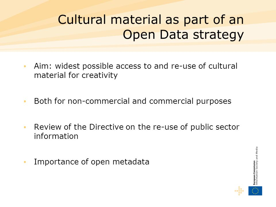 Cultural material as part of an Open Data strategy