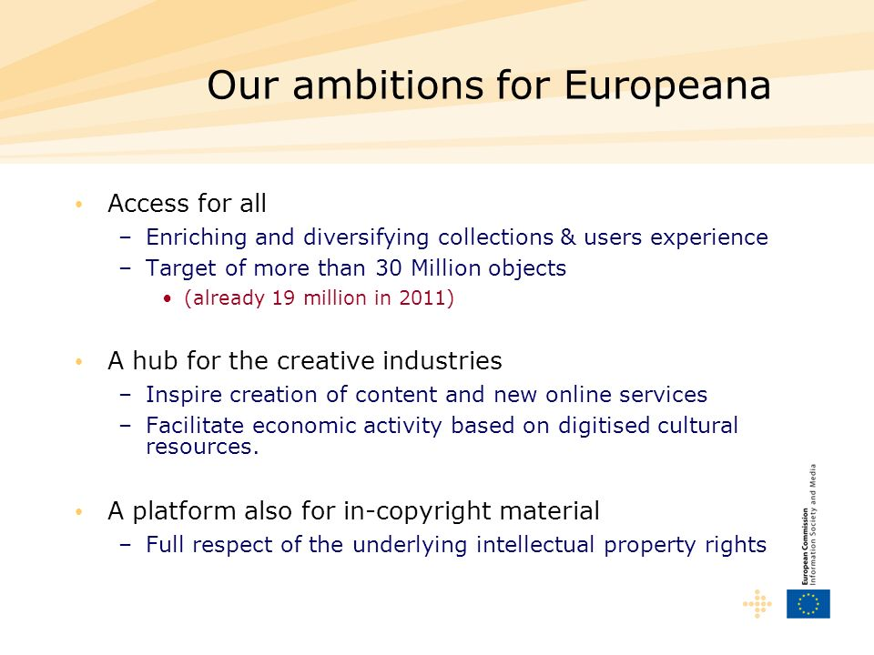 Our ambitions for Europeana