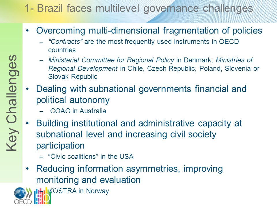 1- Brazil faces multilevel governance challenges