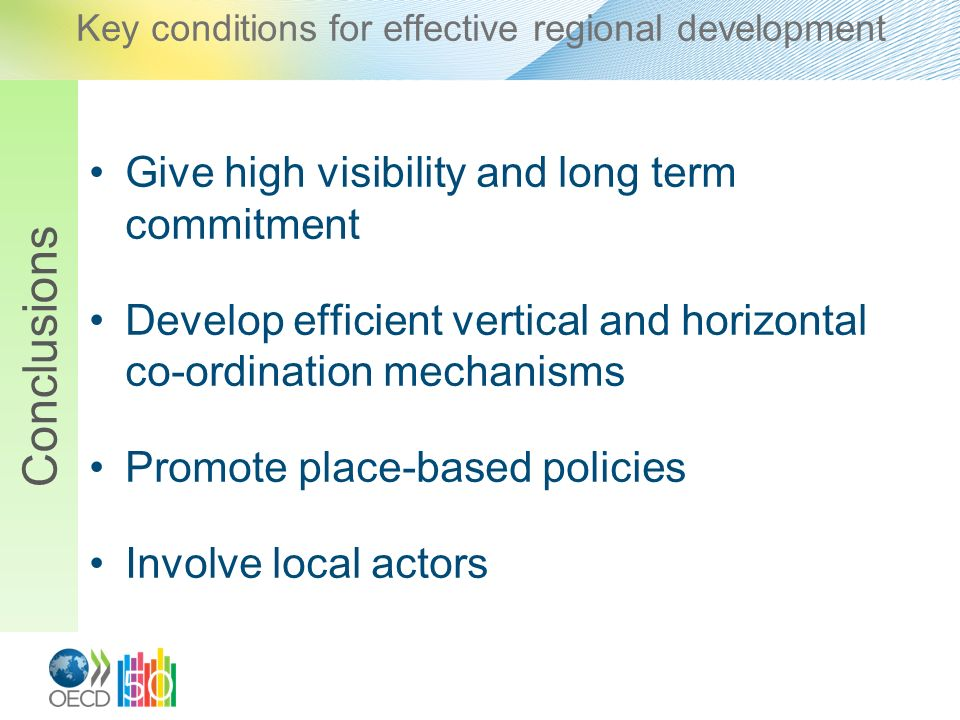 Key conditions for effective regional development