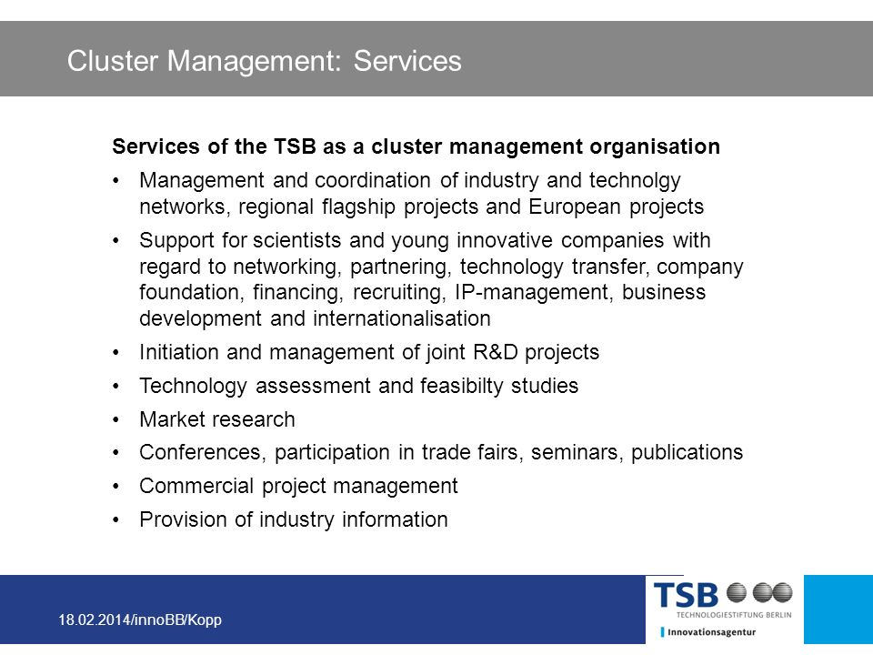 Cluster Management: Services
