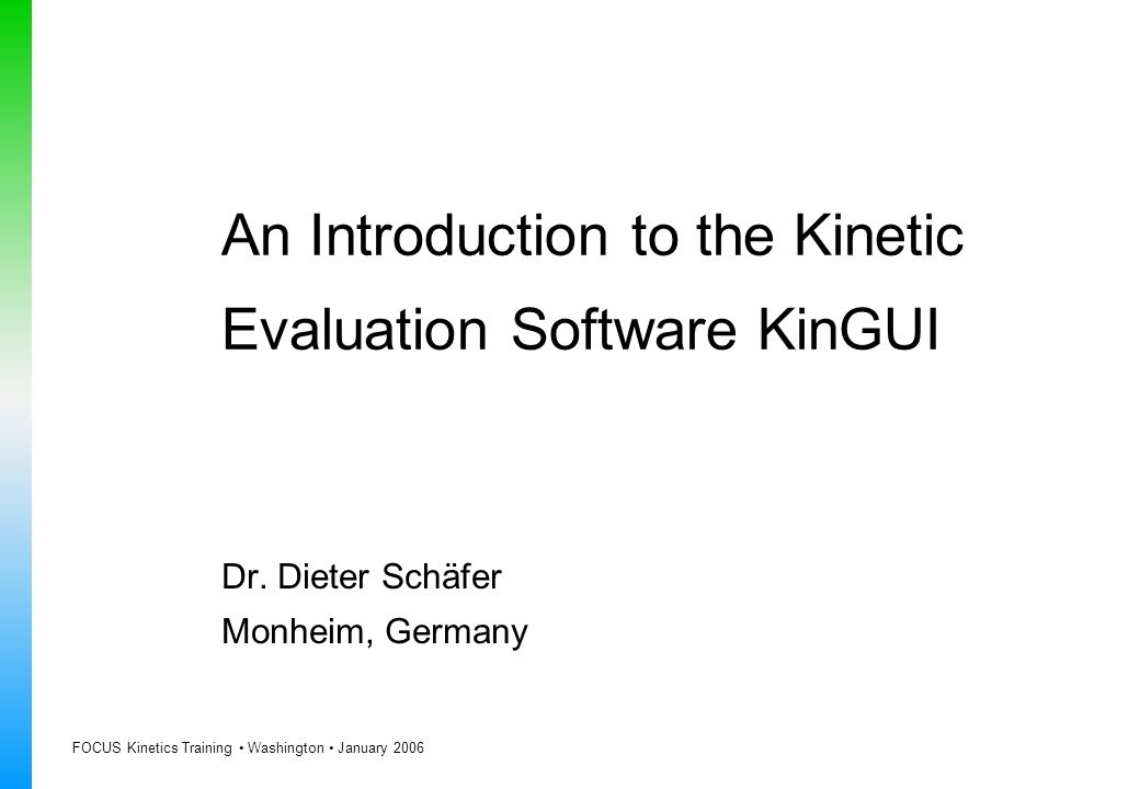 An Introduction to the Kinetic Evaluation Software KinGUI
