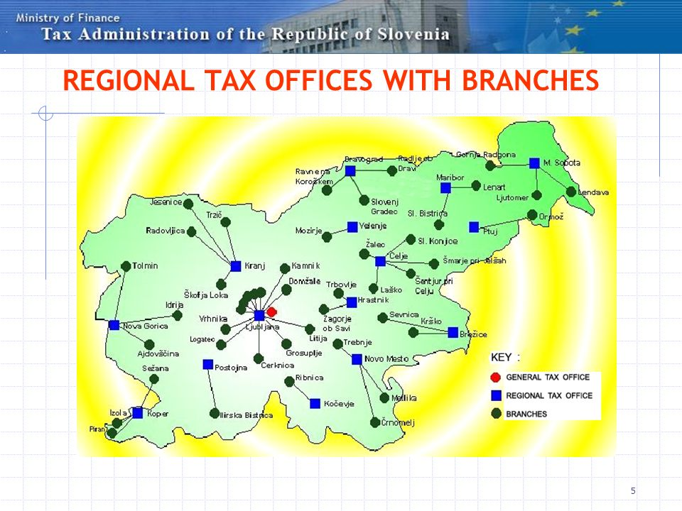 REGIONAL TAX OFFICES WITH BRANCHES