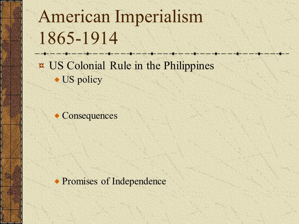 american imperialism the consequences The spanish-american war was an 1898 conflict between the united states and  spain that ended spanish colonial rule in the americas and.