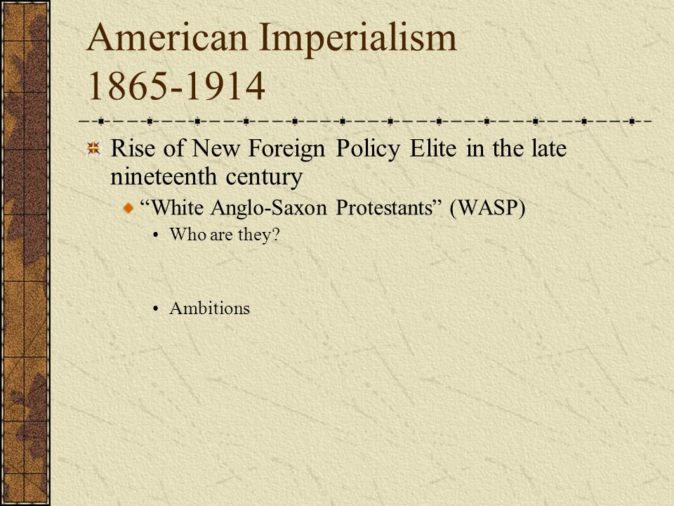 the factors that brought the concept of imperialism in the united states The new age of imperialism limited window brought on by the demise of the hegemonic imperialism the united states is geared above all to.
