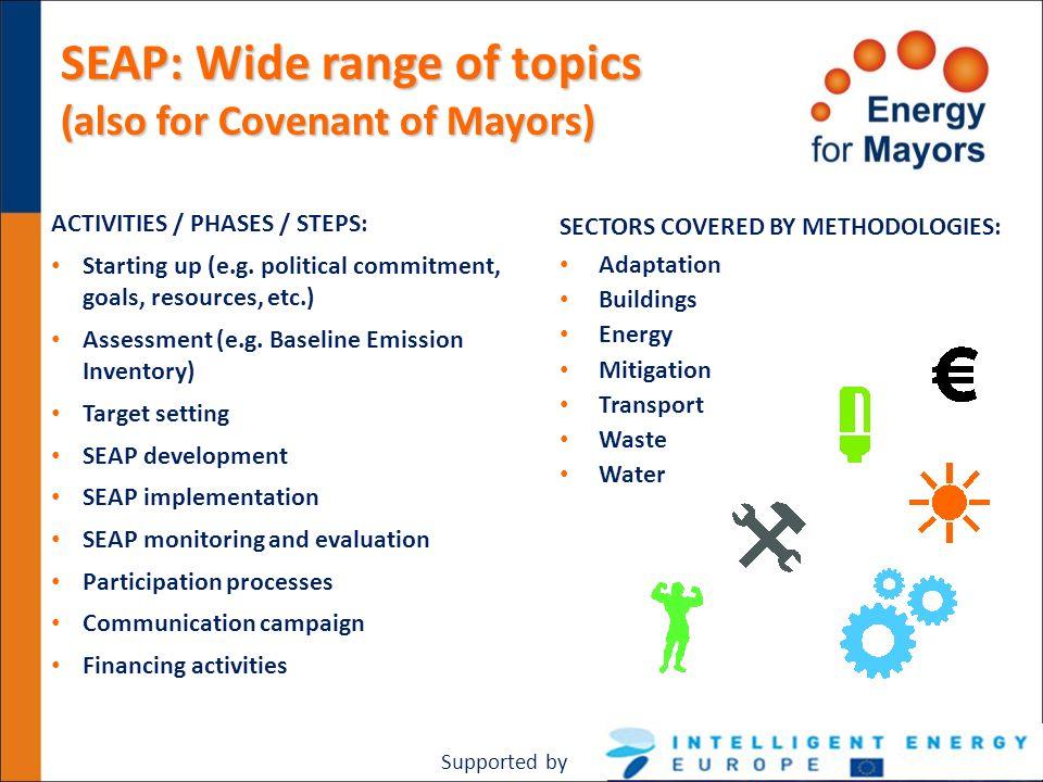 SEAP: Wide range of topics
