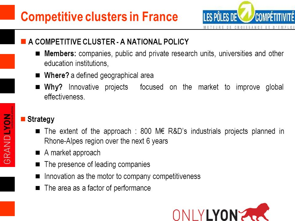 Competitive clusters in France